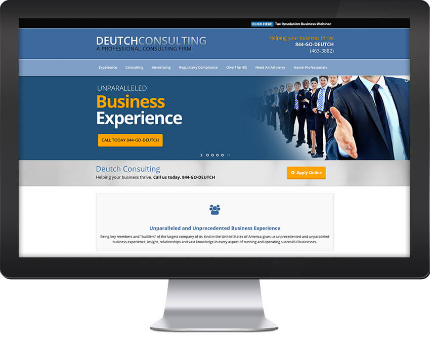 Deutch Consulting Sacramento Wordpress Web Design