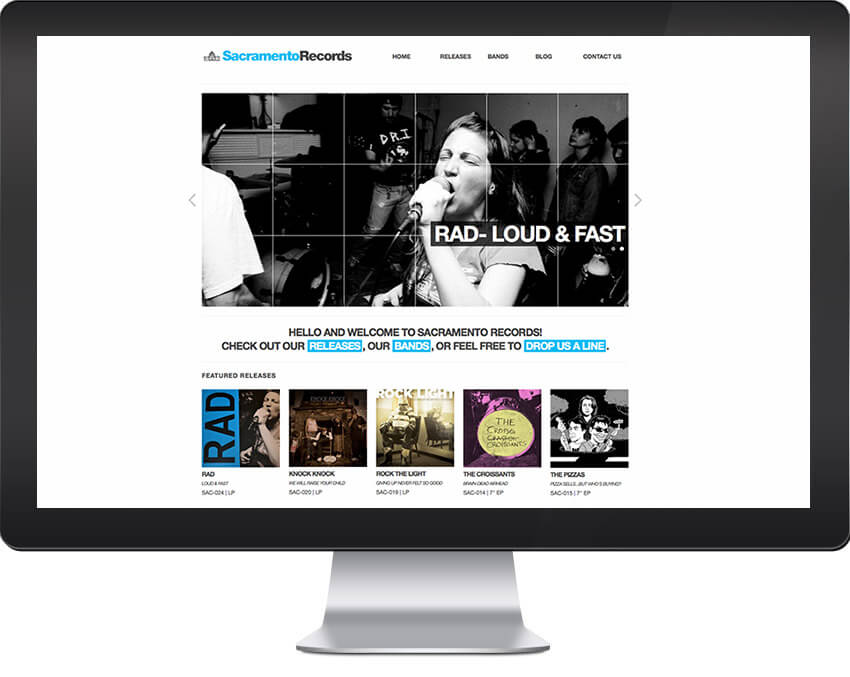 Sacramento Records Website Design