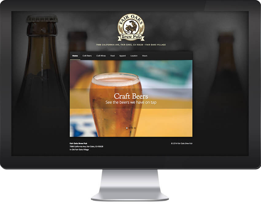 Fair Oaks Brewpub Web Design